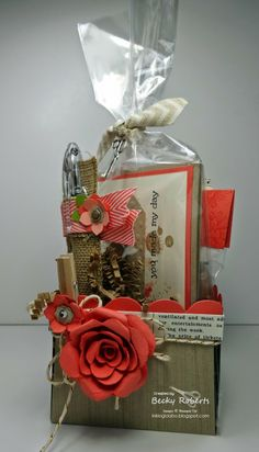 Stampin' Up! Treat Holder: Berry Baskets