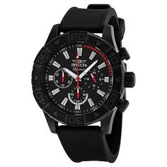Invicta Signature II Chronograph Black Dial Black Polyurethane Strap Mens Watch. List Price: $695.00 Price: $69.99 You Save: $625.01 (90%)
