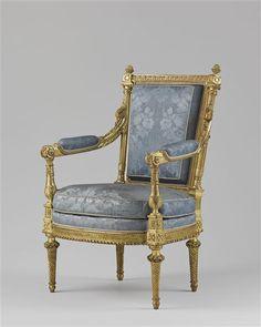 chaise du salon des jeux de Louis XVI à Versailles