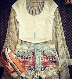 Printed Shorts With White Short T-shirt | Ultimate Women's Fashion