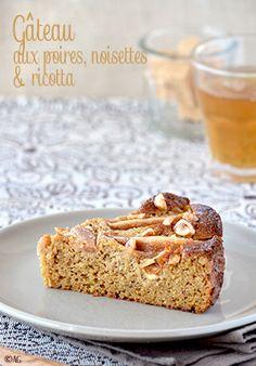 Gâteau aux poires, noisettes & ricotta