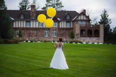 Yellow Spring Wedding Decor Balloons Bride Unique Wedding Decor Ideas. Photo by: Modified PhotoGraphics PRESENTED BY WHITE DAISY EVENTS