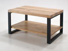 Stolik kawowy z półką na czarnych stalowych nogach - Wymiary: 90x60x45 - 880zł - Stoliki Ławy - Meble - Sklep internetowy Guido