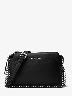 76d8b171107 Astor Large Leather Crossbody by Michael Kors Michael Kors Crossbody Bag,  Leather Crossbody, Pebbled