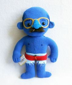 "Tobias ""Blue Man Group"" Funke plushie doll"