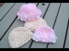 crochet puff stitch baby cap {video response} | Haylees Hats