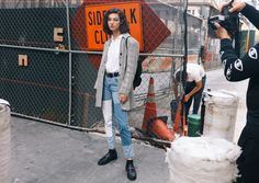 McKenna Hellam in Gucci belt and loafers