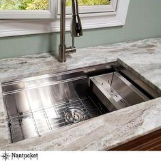 Nantucket Sinks Pro Series 30 L x 18 W Undermount Kitchen Sink Stylish Kitchen, New Kitchen, Kitchen Decor, Kitchen Ideas, Kitchen Colors, Kitchen Interior, Diy Interior, Kitchen Layout, Rustic Kitchen