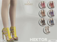 New high heeled sandals for your sim! Come in 8 colours (patent leather texture). Found in TSR Category 'Sims 4 Shoes Female'