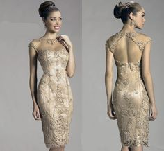 Free shipping, $115.61/Piece:buy wholesale 2016 Sheath Column High Neck Embroidery Beads Illustion Neck Knee-Length Back Zipper Cocktail Prom Bridal Gown Dress Custom Made from DHgate.com,get worldwide delivery and buyer protection service.