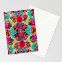 FREE SHIPPING END TODAY ON Tropical Floral Stationery Cards by Amy Sia   Society6