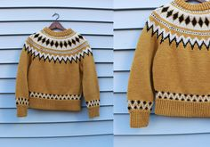 Vintage Vtg Vg 1960's 60's Canary Yellow and Black Wool Winter Sweater Apres Ski Scandinavian Retro Hipster Women's Small Medium by foxandfawns on Etsy