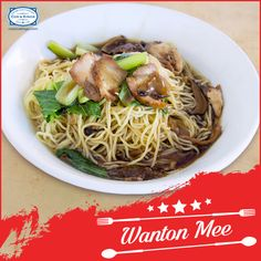 Soup noodles, served with veggies and dumplings, makes for a soul-satisfying meal.  Grab some Wanton Mee - feels like a warm hug on a cold winter's night! #FoodieTravels #ExploreFourCorners