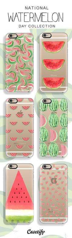 Celebrating National Watermelon Day with a slice of these designs.