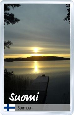 $3.29 - Acrylic Fridge Magnet: Finland. Lake Saimaa