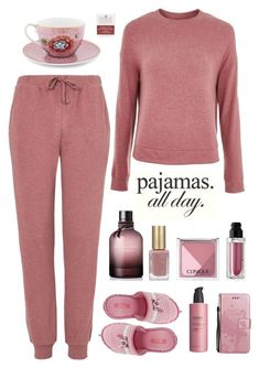 """Relaxing all Day"" by molly2222 ❤ liked on Polyvore featuring Topshop, PiP Studio, Bottega Veneta, L'Oréal Paris, Maybelline, Clinique, Vecceli, Ahava and LovelyLoungewear"