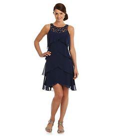 S.L. Fashions Beaded-Yoke Artichoke Dress | Dillard's Mobile