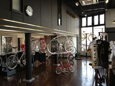 Japanese #bike shop. Wow, just look at some of those bikes.