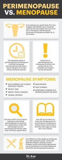 Perimenopause vs. menopause - Dr. Axe http://www.draxe.com #health #holistic #natural