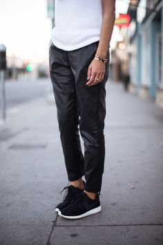 Style - Leather + Nikes // New Amsterdam Vintage