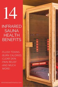 Health Benefits of Infrared Saunas - burn up to 600 calories, flush out toxins, clear skin and reduce acne, pain relief for arthritis, fibromyalgia and more