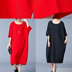 women red cotton shift dress oversized traveling dress vintage o neck half sleeve cotton dressMost of our dresses are made of cotton linen fabric, soft and breathy. loose dresses to make you comfortable all the time.Flattering cut. Makes you look slimmer and matches easily.Custom make service available! Please feel free to contact us if you want this dress custom made. Materials used:cotton polyester Measurement:One size fits all for this item. Please make sure your size doesn't exceed ...