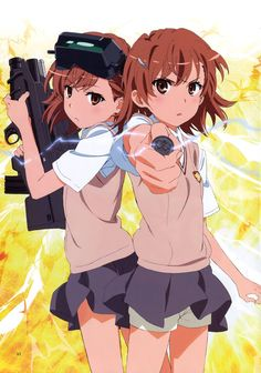 "Misaka and one of the ""Sisters"""