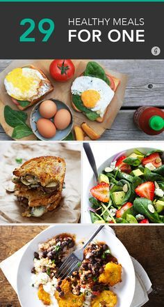 Cooking for One: 29 Insanely Easy, Healthy Meals You Can Make in Minutes #healthy #recipes #easymeals