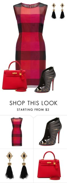 """Untitled #797"" by angela-vitello on Polyvore featuring Gina Bacconi, Christian Louboutin and Hermès"