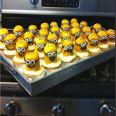 Enzo's classroom birthday cupcakes. Despicable Me.
