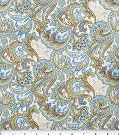 Keepsake Calico Fabric-Blue Beige Paisley at Joann.com