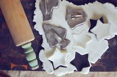 "Says the previous pinner: My new FAVORITE homemade clay/play dough!  Made with baking soda, it is really REALLY white, soft and warm when you first make it and hardens really nicely for ornaments, etc.  There can be a little cracking, but not much and it is very minimal on ornaments that are 1/2"" or bigger"