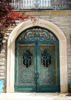 iron gate door....