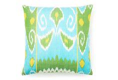 Spring 20x20 Silk Pillow, Turquoise on OneKingsLane.com