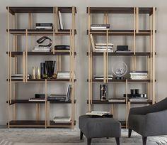 MONDRIAN bookshelves designed by Massimiliano Raggi architetto for CASAMILANO