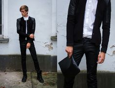 Yas Blazer, Hugo Boss Leather Pants, & Other Stories Clutch, Cos Shirt