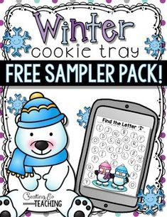 Not sure if cookie trays are for you? Each day we use 4 different cookie tray activities and the students rotate through the 4 trays. This free sampler pack includes 4 activities from my Winter Cookie Tray Activities Pack.   Download these freebie to give these activities a try.