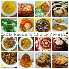 Emily Bites 2012 Reader's Choice Winning Weight Watcher Recipes...