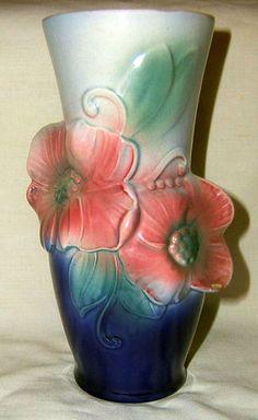 Art Nouveau Vase Vintage Royal Copley Vase Floral Antique Urn Vessel   eBay