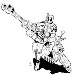 Deadpool - BFG by ~L-Ritchie on deviantART