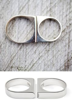 Minimalist His / Hers wedding ring set #modern #wedding #bands #rings