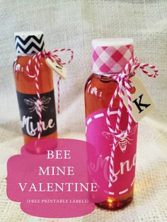 Entirely Eventful: Bee Mine Honey Valentine {Free Printable Label}