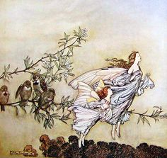 The Fairies in Spring by Arthur Rackham