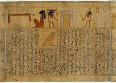 "The ""Papyrus of Bakay,"" a copy of the Book of the Dead made for the royal nanny Bakay. Artist unknown; 2nd half of 15th cent. BCE (18th Dynasty)."