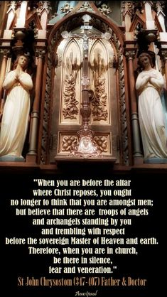 Quote/s of the Day – 13 September – the Memorial of St John Chrysostom Father & Doctor of the Church Catholic Quotes, Catholic Prayers, Catholic Saints, Religious Quotes, Roman Catholic, Catholic Beliefs, John Chrysostom, Spiritus, Saint Quotes