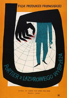 "Hubert Hilscher, 1957 – ""The Man with the Golden Key"", France Directed by Leo Joannon. (via The Legacy Of Polish Poster Design - Smashing Magazine) Film Poster Design, Graphic Design Posters, Graphic Design Illustration, Graphic Design Inspiration, Graphic Art, Illustration Art, Design Graphique, Art Graphique, Polish Movie Posters"