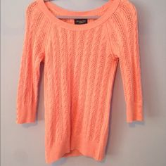 Pink American eagle sweater This pink sweater can be dressed up or dressed down and will look great on anyone. Not as bright as the camera made it look American Eagle Outfitters Sweaters Crew & Scoop Necks