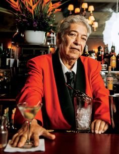 Ruben Rueda, a bartender at Musso & Frank Grill. Credit: Kyle Johnson.