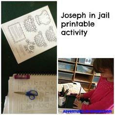 Joseph in jail printable activity