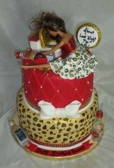 Drunk Barbie cake! www.creativecakesbykeekee.com